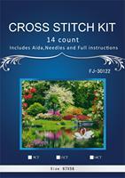 67*55 Swan Lake Scenery Counted Cross Stitch Cartoon Cross Stitch 14CT Cross Stitch Kit Handmade Embroidery Needlework