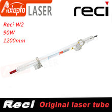 Laser tube Reci W2 90W-100W CO2 Laser Tube Wooden Box Packing Length 1200mm Dia. 80mm CO2 Laser Engraving Cutting Machine S2 Z2