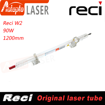Laser tube Reci W2 90W-100W CO2 Laser Tube Wooden Box Packing Length 1200mm Dia. 80mm CO2 Laser Engraving Cutting Machine S2 Z2 smartrayc co2 laser tube holder support mount flexible plastic 50 80mm for 50 180w laser engraving cutting machine model a