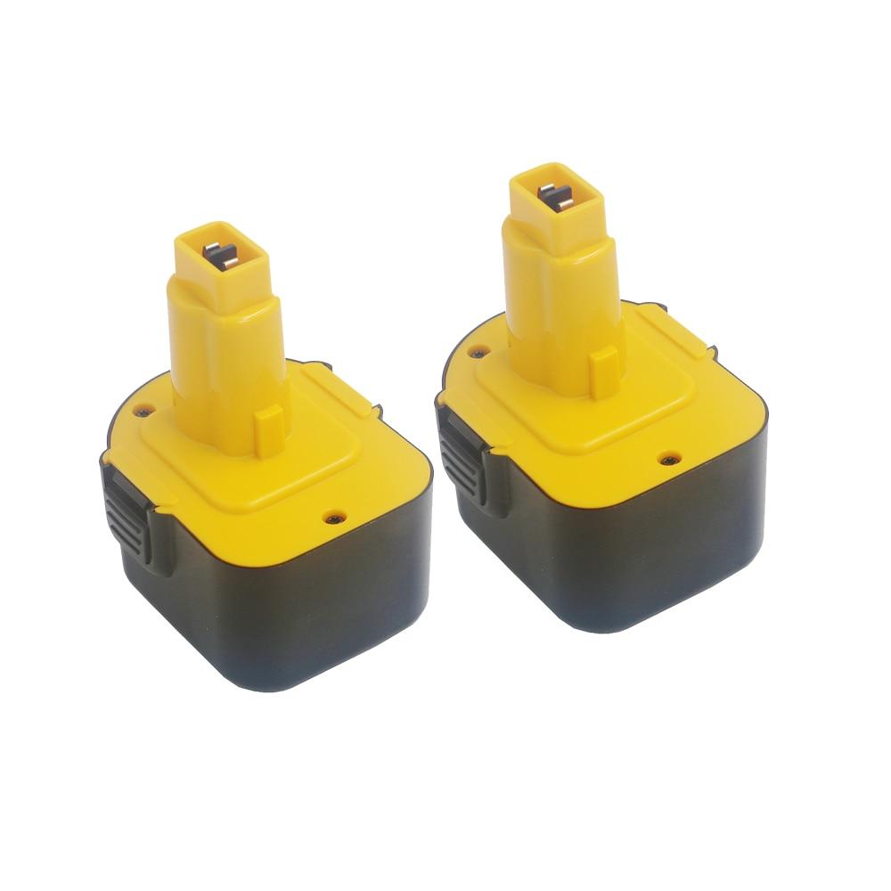 2Pcs/lot For DeWalt DE9071 12V 2000mAh Rechargeable Battery Power Tools Batteries for Drill DE9074 DE9075 DC9071 DE9037 DE9501 ni cd 2 0ah replacement power tool battery for dewalt 12v 2000mah de9074 dc9071 de9037 de9071 de9074 de9075 dw9071 dw9072 dw9074