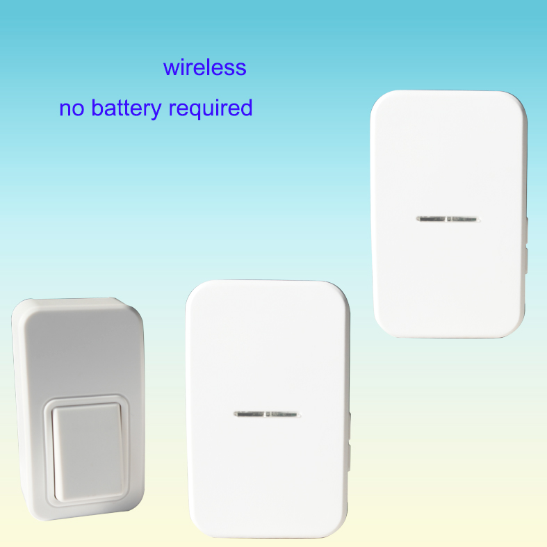 1 Push Button 2 Doorbell Remote Control Cordless Door Bell No ...