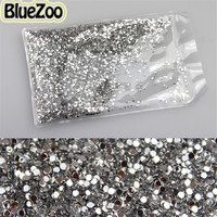 New 10000pcs High Quality Clear 2mm Round Nail Art Acrylic Rhinestone Decoration Glitter For DIY Tips