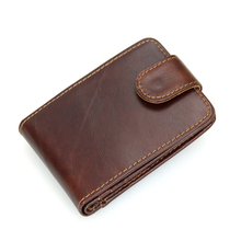 Genuine Leather Unisex Card Holder Wallets High Quality Male RFID Blocking Credit Card Holders Men Pillow Card holder Purse