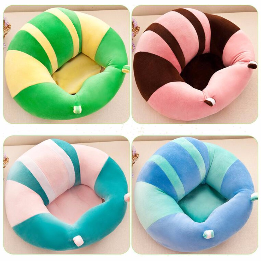 купить 0-2Y Kid Baby Support Seat Sofa Sitting Cushion Chair Car Seat Infant Soft Plush Lounger Learning To Sit Posture Pillow Travel по цене 1329.35 рублей