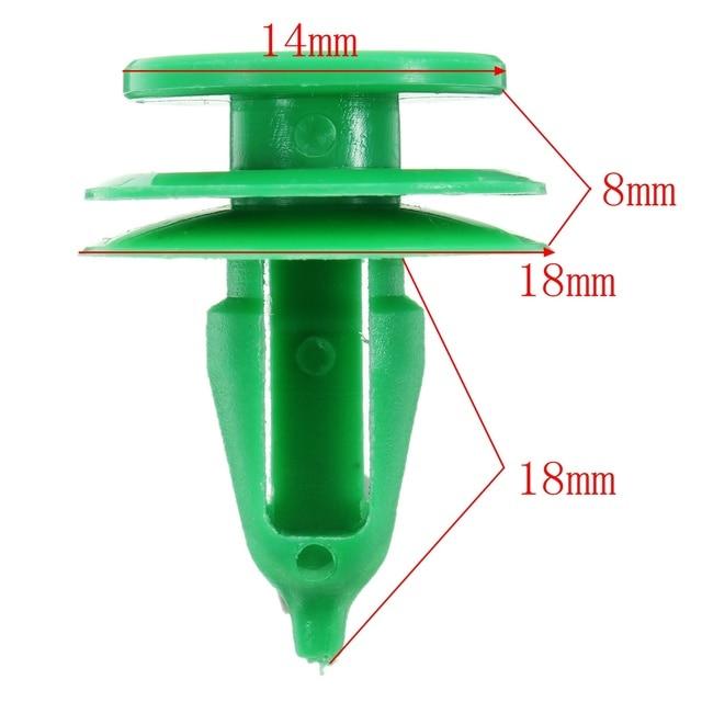 Clips plastiques verts pour Chrysler WJ
