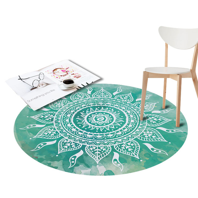 Round Waterproof Rugs Pinele Printed For Living Room Doormat Non Slip Kitchen Carpets Flamingos Floor