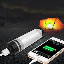 USB Rechargeable Powerbank Camping Lantern Mini Portable Lights Lamp Emergency Fishing Bivvy LED Tube Lighting