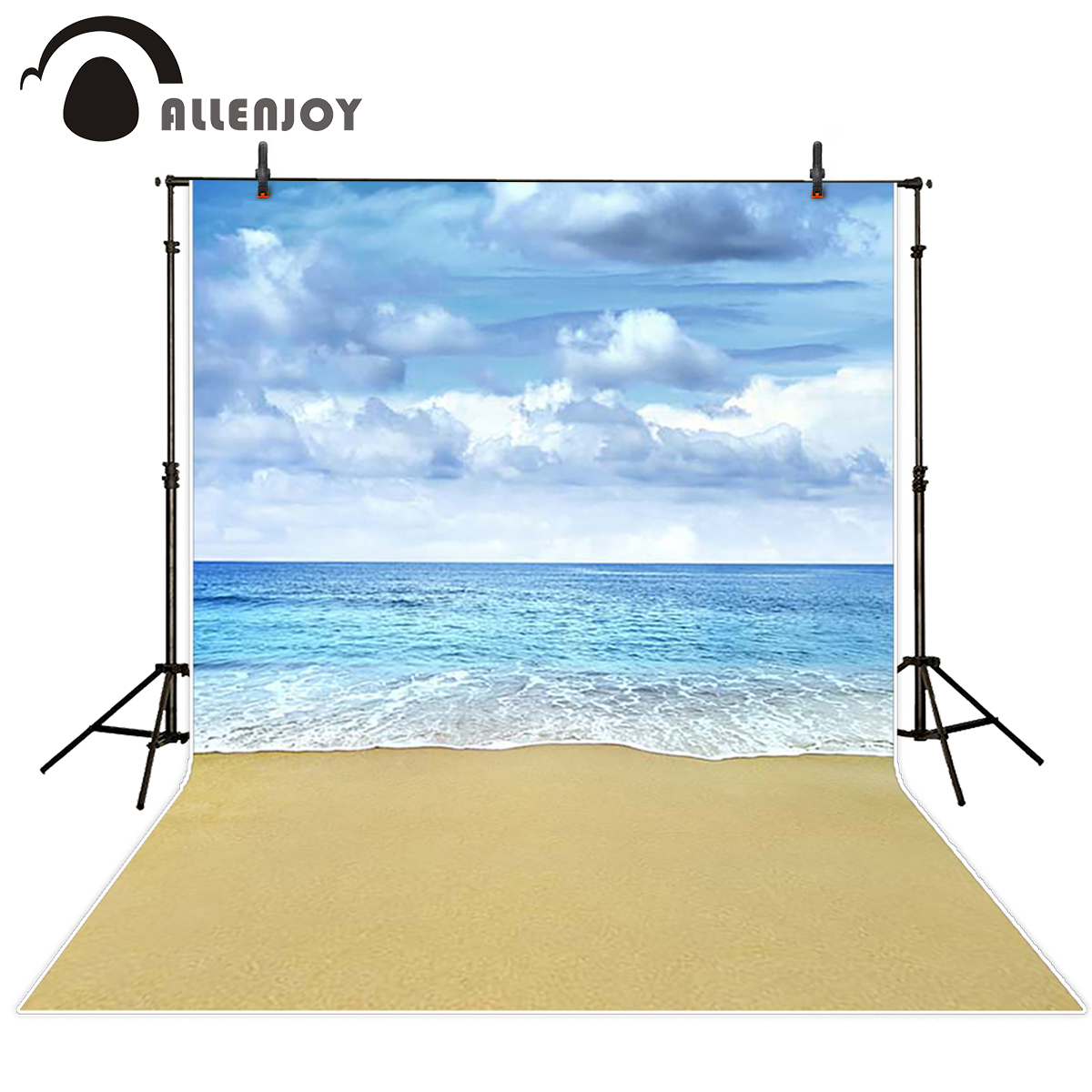 Allenjoy scenic Photo background Cloudy sea beach with gray clouds seaside photography backdrops photo backdrop fabric kate backdrop for photography beach ocean wedding series background photo studio seaside scenic backdrops