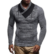 ZOGAA Sweater Men Casual V-Neck Pullover Autumn Slim Fit Long Sleeve Shirt Mens Sweaters Knitted Cashmere Wool Pull Homme