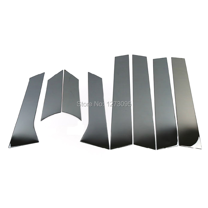 For Vauxhall Opel Astra J 2010-2014 Stainless Center B/C Pillar Window Frame Molding Trim Protector Car Styling Accessories 8pcs for vauxhall opel astra j 2010 2014 stainless steel window frame moulding trim center pillar protector car styling accessories