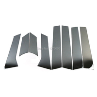 For Vauxhall Opel Astra J 2010 2014 Stainless Center B/C Pillar Window Frame Molding Trim Protector Car Styling Accessories 8pcs