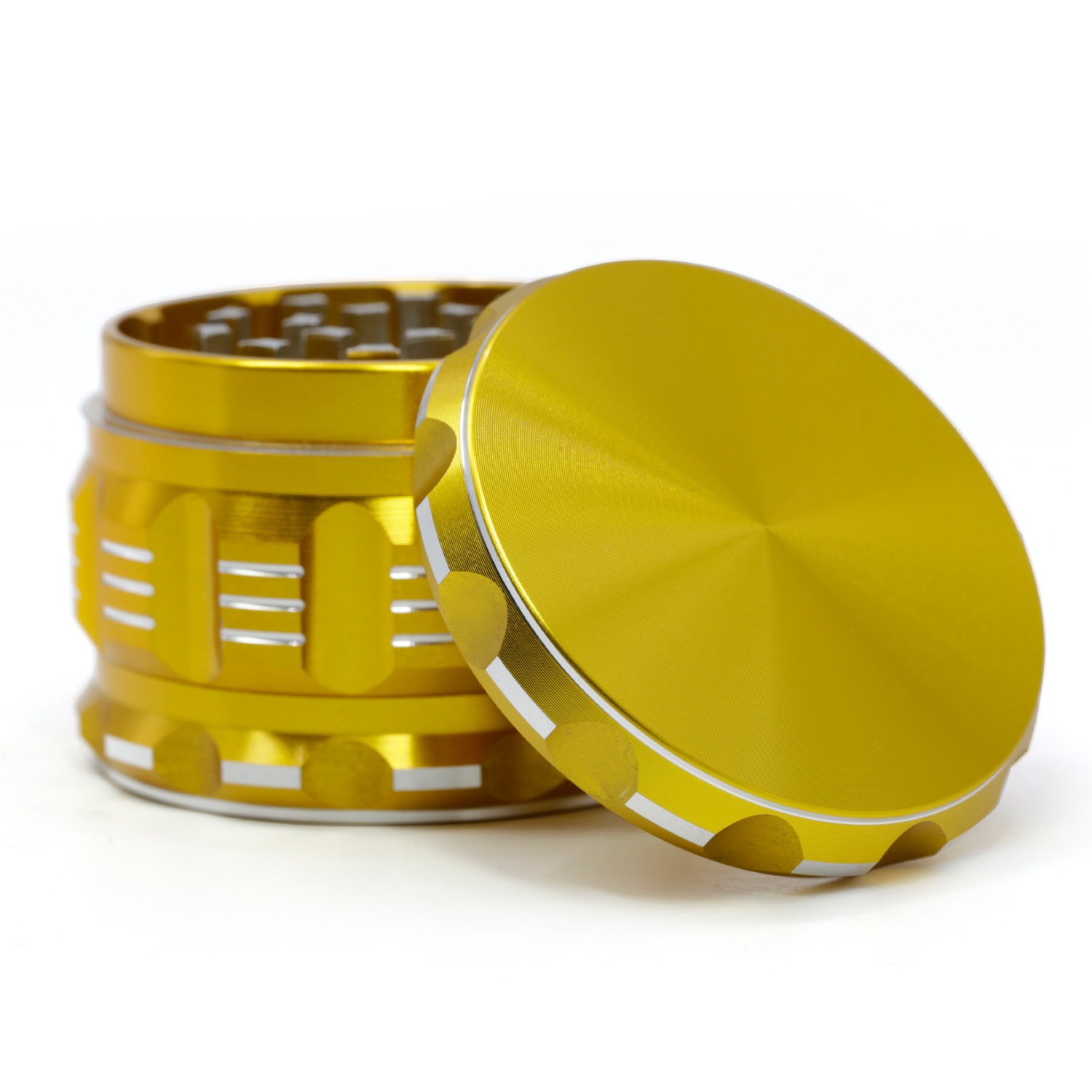 NEW 4 Parts 63mm Aluminum Alloy Spice Mill Tobacco Herb Grinder Weed Smoker Hand Muller for Smoking  Maker Drop Shopping