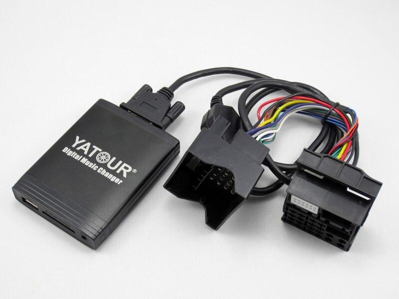 Yatour pour BMW E39 X3 X5 Mini Cooper Rover fakra 40-pin Plat Voiture Digital Music Changeur USB MP3 lecteur AUX adaptateur