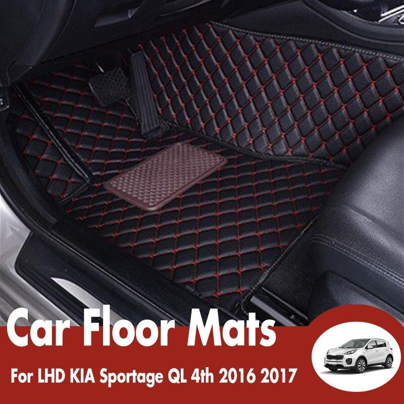 Автомобильные коврики для KIA Sportage QL 4th 2016 2017 автомобильные аксессуары для интерьера водостойкие анти грязные кожаные коврики Dash коврики LHD