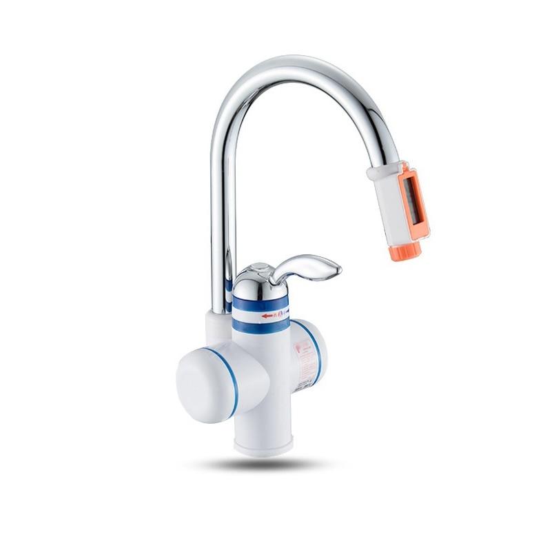 DMWD Instant Electric Water Heater Kitchen Heating Tap Electric Hot Water Faucet Instant Water Heater Digital Display 3000W