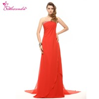 Alexzendra A Line Chiffon Beaded Strapless Bridesmaid Dress For Wedding Long Party Gown Bridesmaid Gown Plus