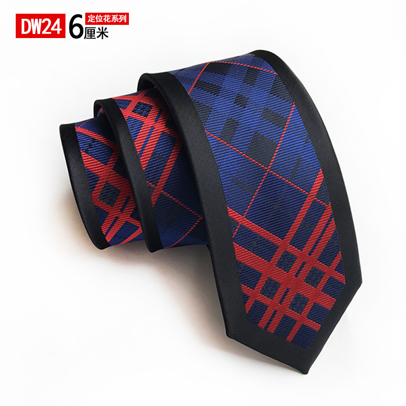 Simple Novelty Design Mens 6 Cm Casual Narrow Tie Flower Pattern Jacquard Wedding NeckTies