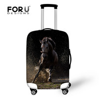 FORUDESIGNS 3D Crazy Horse Pattern Luggage Protective Covers Thick Elastic Trolley Case For 18 30 Inch