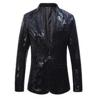 Top Quality Autumn New Blazer Men 2018 Fashion Floral Print Slim Fit Men Blazer Jacket Business Casual Plus Size Dress Suit Coat