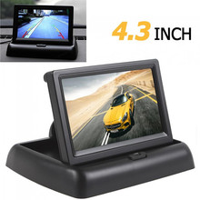 4.3 Pulgadas HD 480 H x 272 V Resolución de $ number canales de Entrada de Vídeo TFT-LCD Monitor en Color de Opinión Posterior Del Coche Del Monitor
