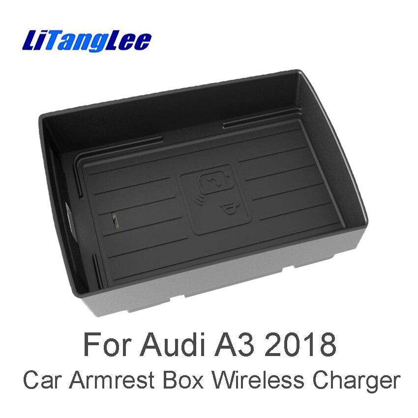LiTangLee Беспроводной Зарядное устройство для Audi A3 MQB 8 V Sportback S3 RS 3 2017 2018 2019 автомобилей Quick Charge быстрый мобильный телефон wifi Зарядное устройство