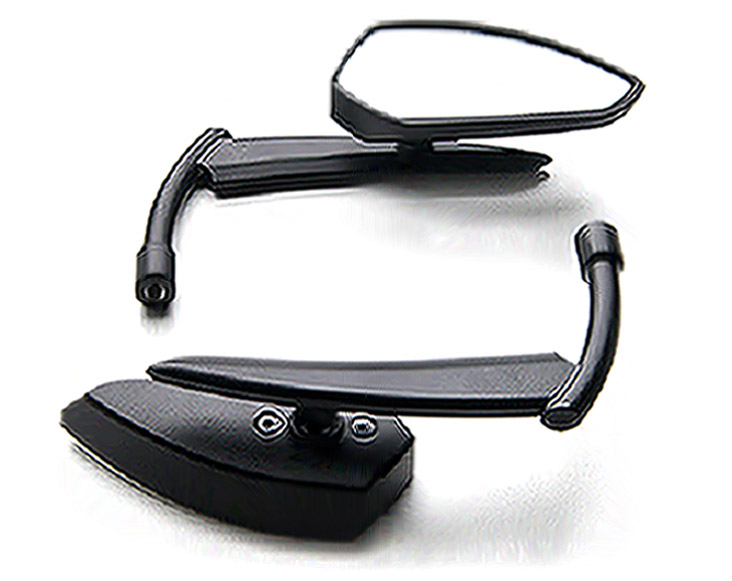 Brand new Custom Rear View Mirrors Black Pair For Kawasaki Vulcan Classic Custom 900