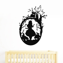 New arrival Alice In Wonderland Wall Art Decal Nursery Decor Cat Vinyl Sticker Girls Room Mural Decoration