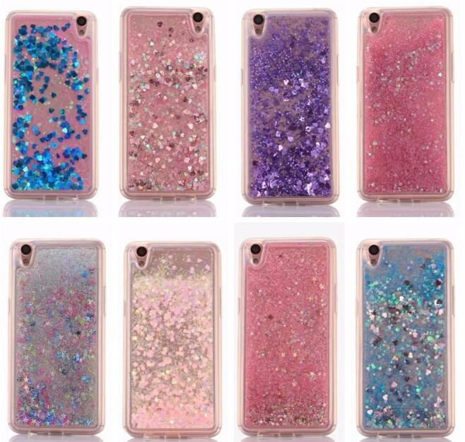 brand new 9271c 0067a US $3.67  Lovely Heart Glitter Stars Dynamic Liquid Quicksand Soft TPU  Phone Back Cover Case For Oppo a59 for Oppo F1s Back Cover Fundas-in Fitted  ...