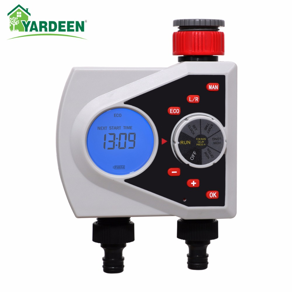 New Arrival Two Outlets Solenoid Valve Water Timer Digital Irrigation Timer Garden Watering Timer Automatic Controller