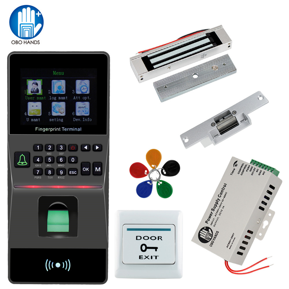 Fingerprint Reader Access Control kit Support USB/TCP/IP/ RS485 Biometric Fingerprint Time Attendance RFID Home Security System biometric fingerprint access control and time attendance mf131 color screen rs485 tcp ip communications 13 56 mhz mifare