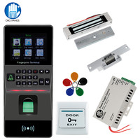 Fingerprint Reader Access Control kit Support USB/TCP/IP/ RS485 Biometric Fingerprint Time Attendance RFID Home Security System