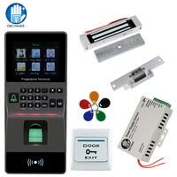 Fingerprint Reader Access Control kit Support USB/TCP/IP/ RS485 Biometric Fingerprint Time Attendance RFID Home Security System