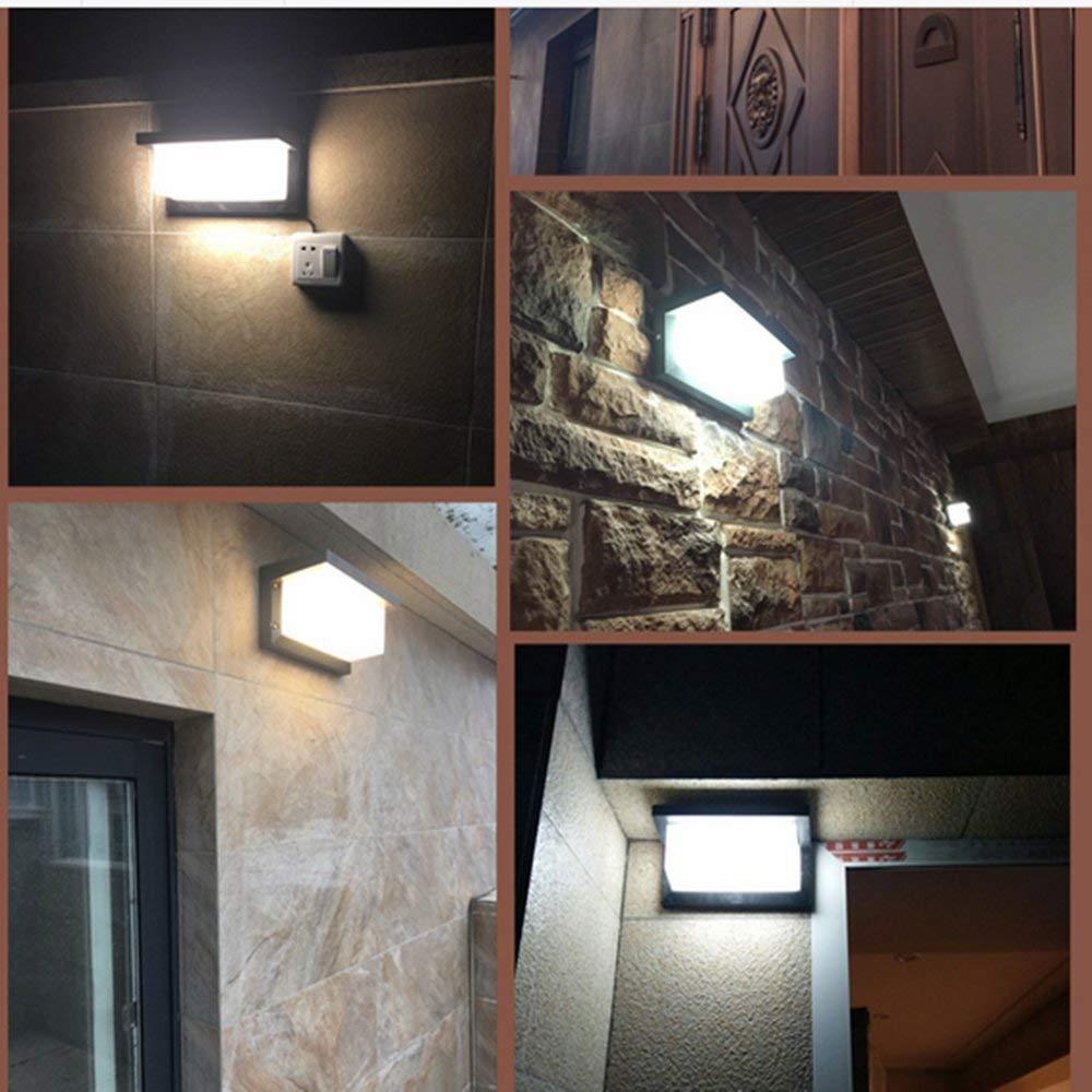 gramado parede exterior a prova dwaterproof agua luminaria habitacao lampadas 04