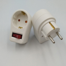 EU Standard Power Adapter 16A Changeover Plug With Switch Adaptor Electrical 4.8 MM