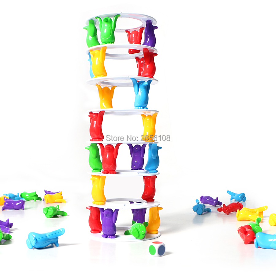 Penguin Tower Collapse Crazy Column Game Challenge Game For Family Fun Toy,crash Tower Stacking Towering Penguin For Kid&adult