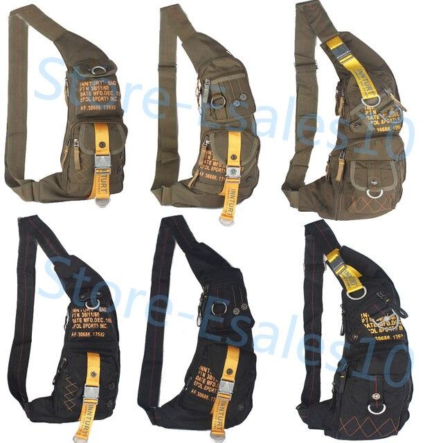 Aliexpress.com : Buy Men's Women's Nylon Sling Chest Bag Daypack ...