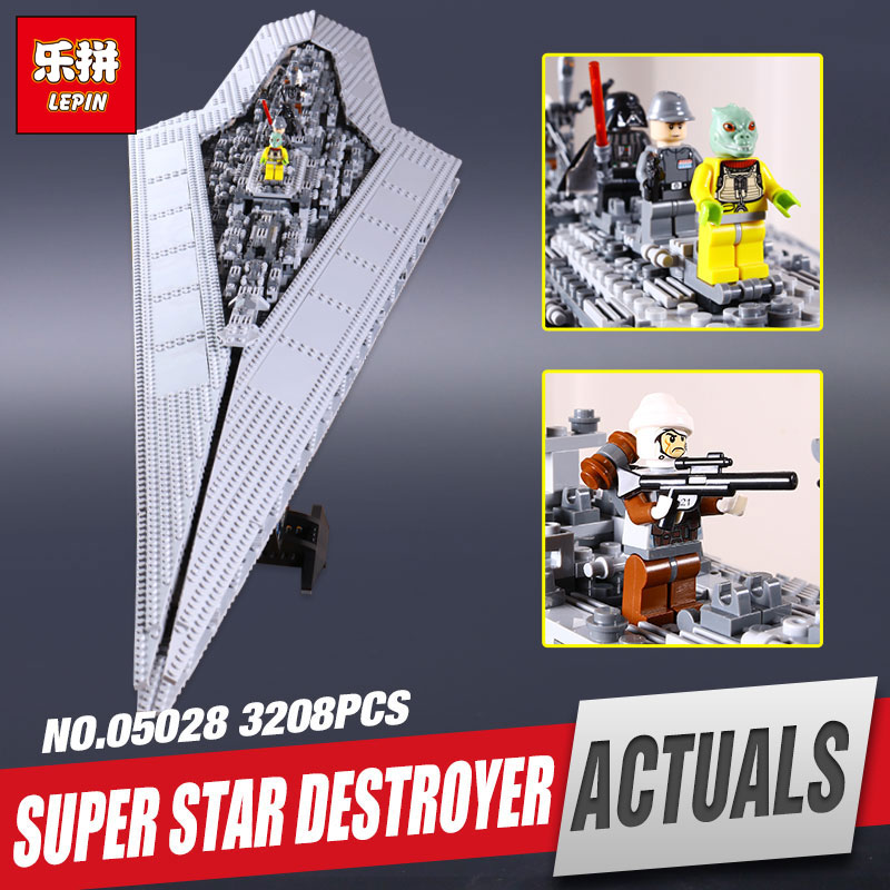 LEPIN 05028 Star Execytor Wars Super set Destroyer Model Educational Building Kit Block Brick Compatible legoing 10221 Toy model 05028 star wars execytor super star destroyer model building kit mini block brick toy gift compatible 75055 tos lepin