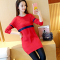 2017 new collar knitted maternity sweater plus pullovers clothing clothes for pregnant women