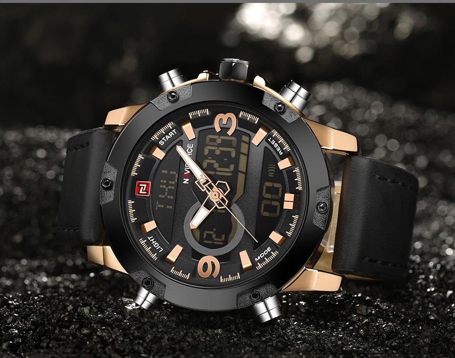Top Luxury Brand NAVIFORCE Men Sport Watches Men's Quartz LED Analog Clock Man Military Waterproof Wrist Watch relogio masculino 8