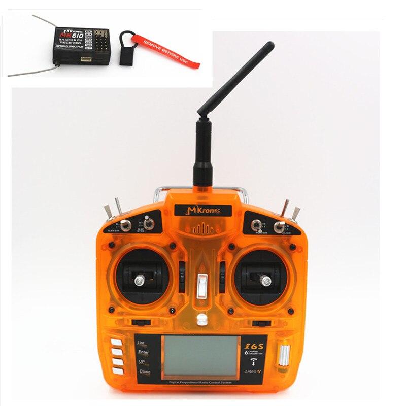 Oyuncaklar ve Hobi Ürünleri'ten Parçalar ve Aksesuarlar'de DSM2 Verici MKron Tam Menzilli 2.4 GHz 6 CH Kablosuz radyo verici Uzaktan Kumanda W/MK610 Uzaktan Alıcı için helikopterler'da  Grup 1
