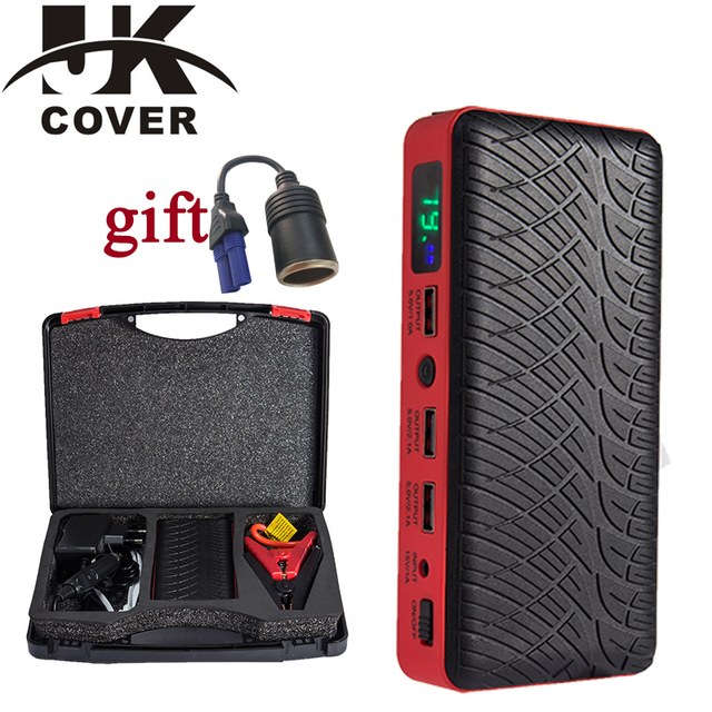JKCOVER 26000mAh Emergency Car Battery Jump Starter 12v Portable Power Bank Car Booster Start Device for Auto