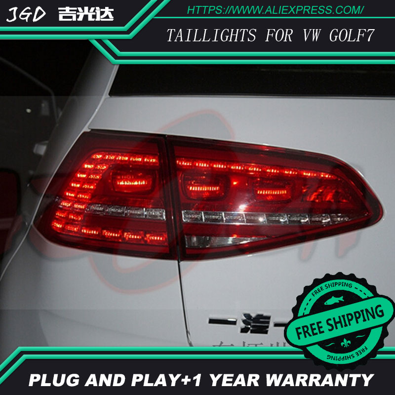 High Quality. Tail Lights case for VW Golf 7 2013 2014 LED Tail Light Rear Lamp DRL+Brake+Park+Signal Car styling en car styling for vw golf 7 tail lights 2013 2015 golf7 mk7 led tail light gti r20 rear lamp led drl brake park signal