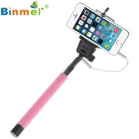 Beatiful Gift Portable Sports Pink Extendable Handheld Self-portrait Tripod Monopod For IOS Android_KXL0310