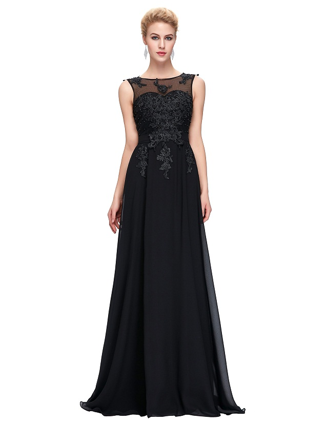 Back Red Formal Dress Engagement Party Gowns – dressson.net