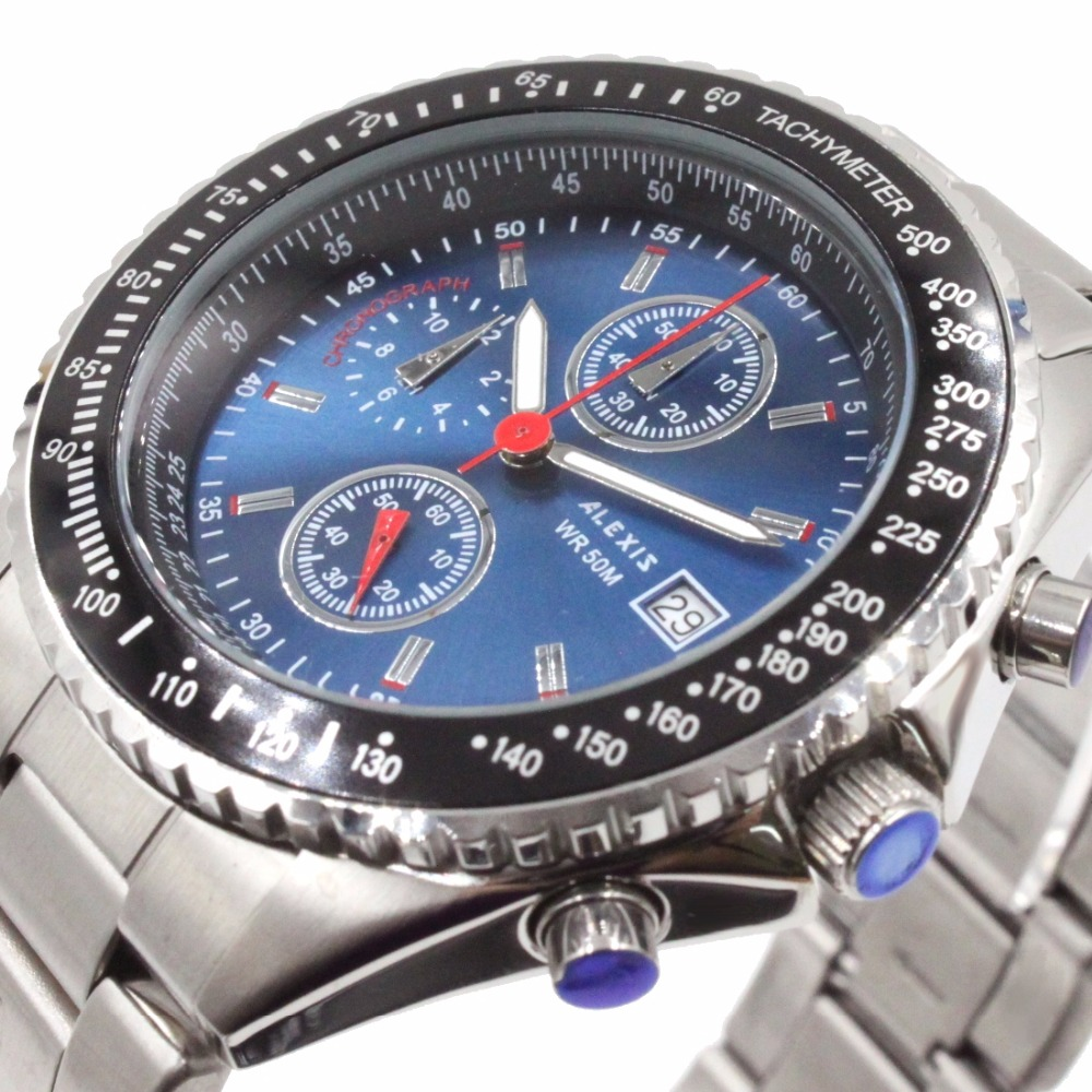 ice watch st rs s s 10 watch ALEXIS Chronograph 0S10 Miyota Movement Quartz All Stainless Steel Watch with Gifts Box
