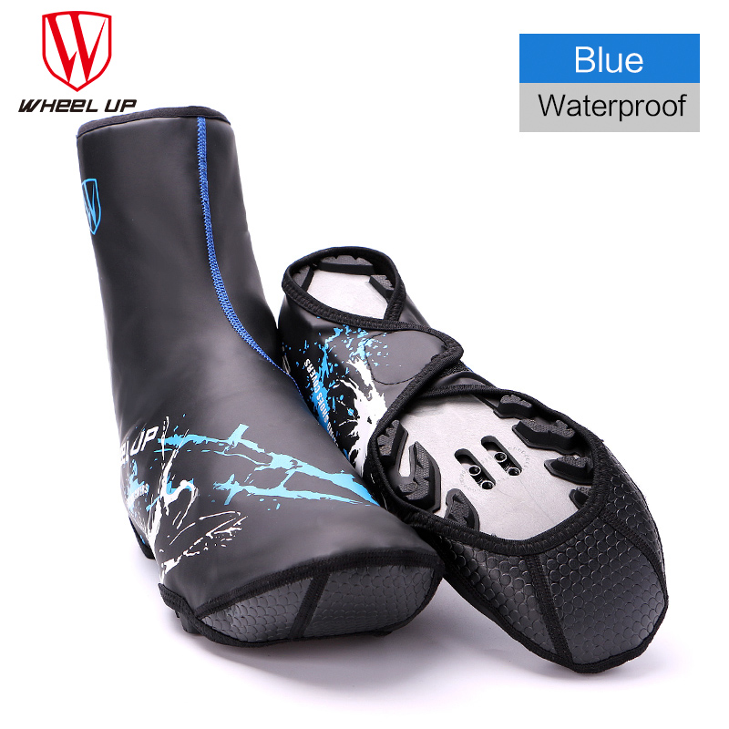 Waterproof Windproof Cycling Shoe Covers Bicycle Overshoes Bike Shoecover Riding Equipment Winter Thermal Cycling Overshoes