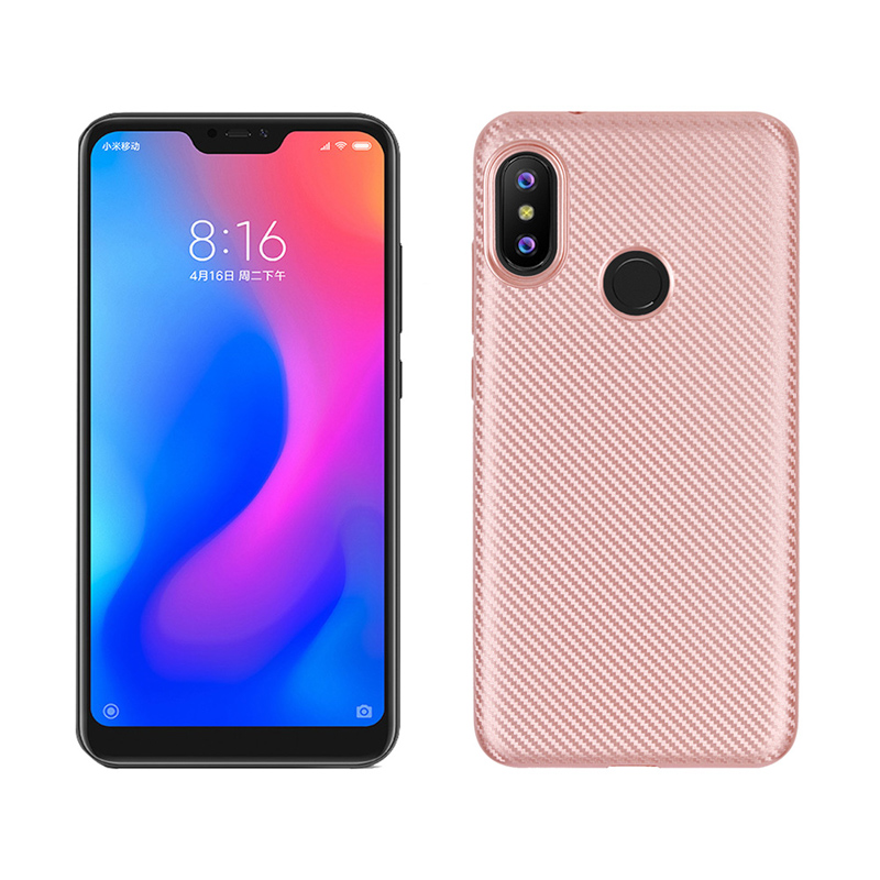 Carbon Fiber Case For Xiaomi Redmi 6 Pro Case Silicone Soft TPU Breathable Cases For Xiaomi Redmi6 Pro Cover Mia2 Lite