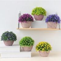 1Set Artificial Green Plant Artificial Miniascape Bonsai Potted Plants Local Landscape Decorative Flower Home Balcony Decoration