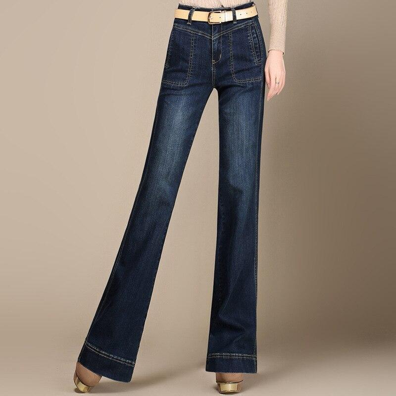 ФОТО Hot Sale Vintage Jeans Woman Plus Size High Waist Loose Jeans Women Flare Denim Pants Jeans Femme Mujer AZ703