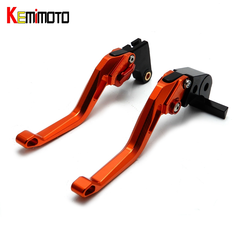 KEMiMOTO CNC Pivot Brake Clutch Lever 5D Ajuster Short Lever for KTM 125 390 200 690 Duke SMC/SMCR DUKE RC125 RC390 RC200 cnc pivot brake clutch lever for kawasaki kx65 kx85 kx125 kx250 kx250f new